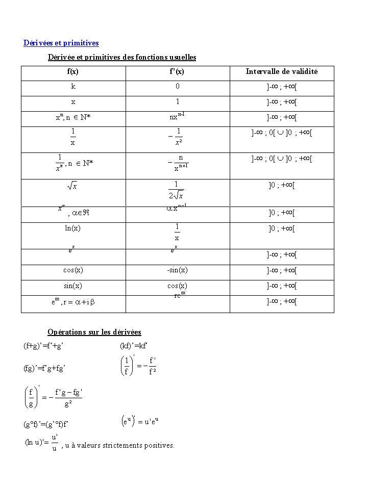 formules de maths